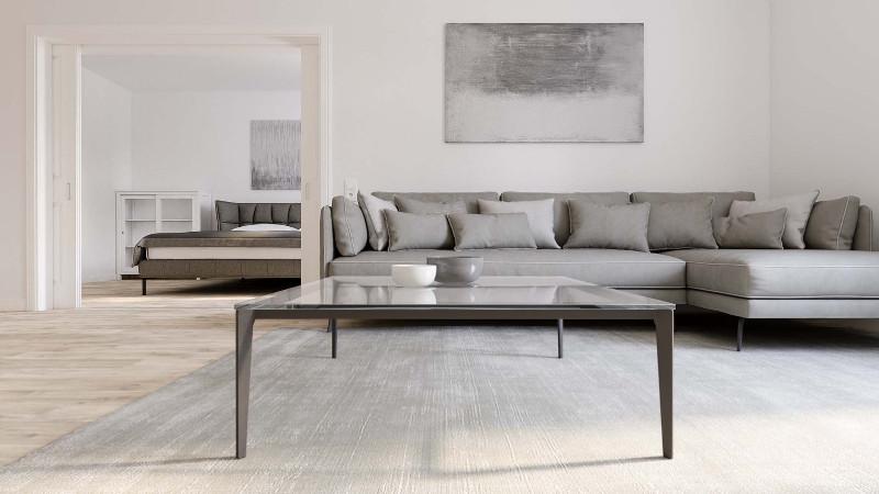 Architekturvisualisierung-Appartement-Wohnzimmer-minimalistisch