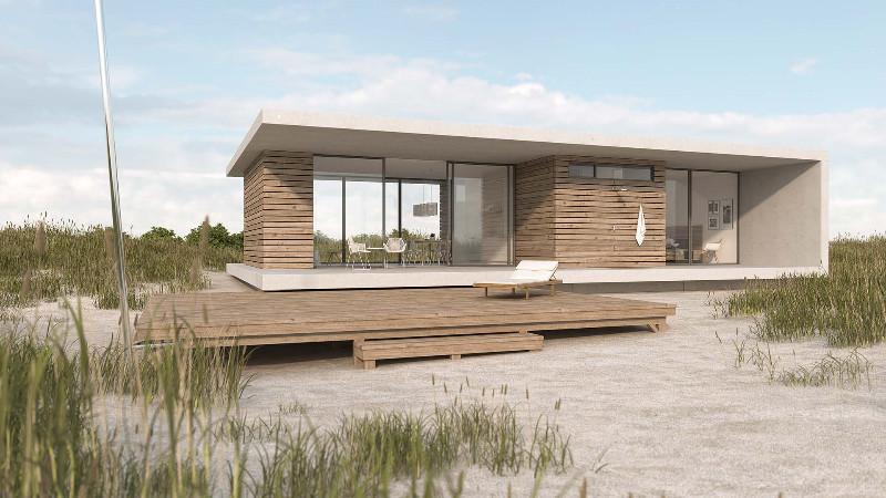 Architekturvisualisierung-Strandhaus-Duinzand-Gesamtaufnahme