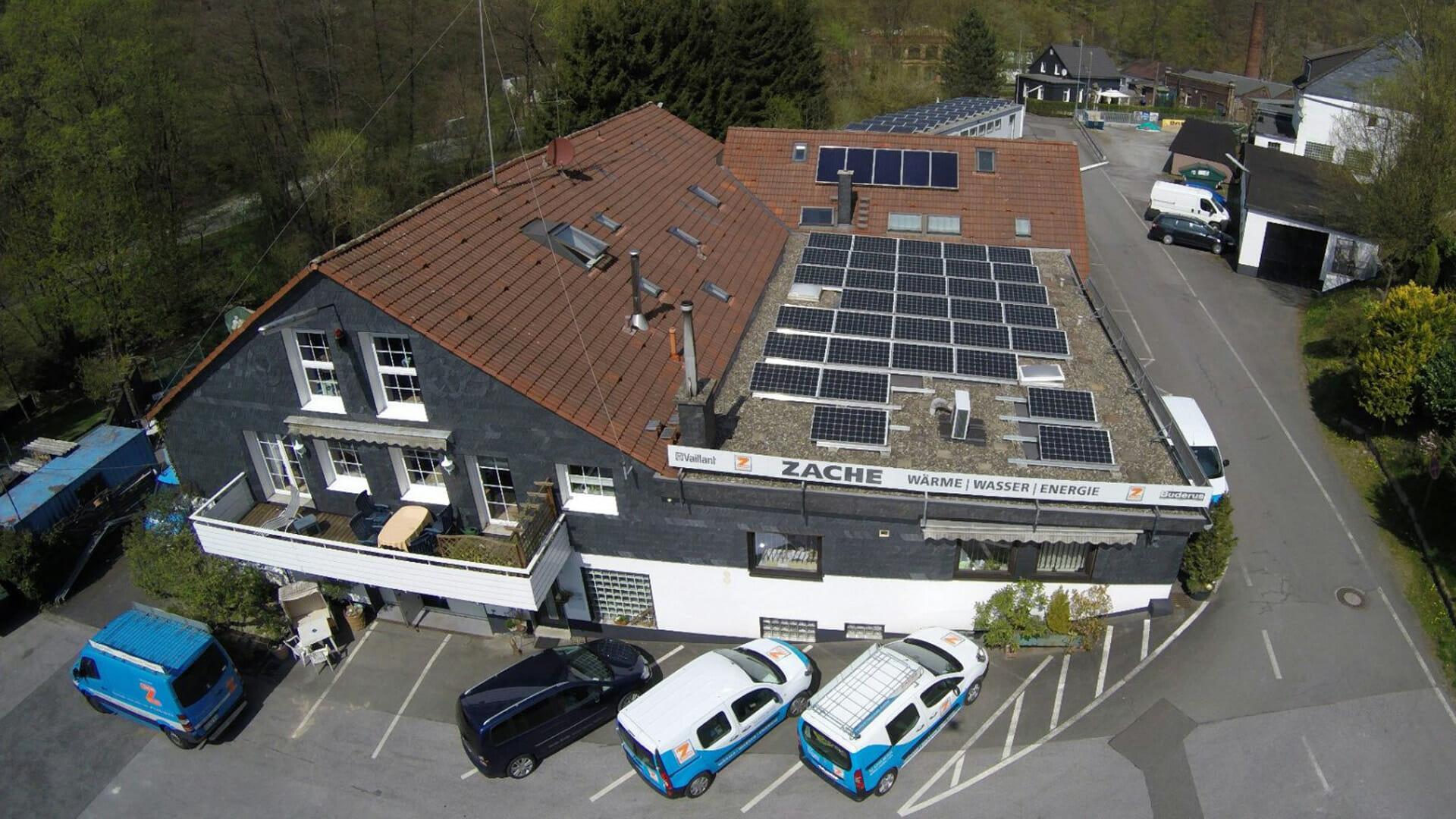 Luftbild vom Fachbetrieb Zache in Remscheid